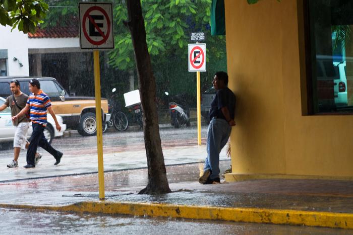 pluie à Playa del Carmen