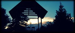 Sit by me... (F. C. Photography) Tags: sunset two love home church nature bells poetry poem heart emotion song silhouettes belltower beginning together dreams hopes feeling emotional