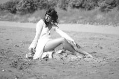 "gitana (Paolo ""Dizio"" Ciot) Tags: bw girl legs beaches"