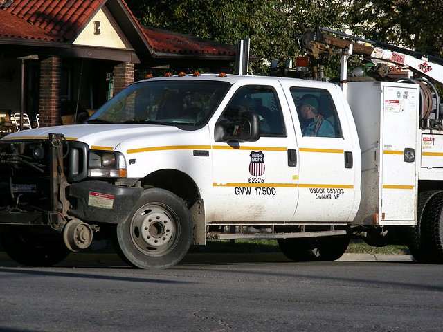 railroad ford car truck work pickup unionpacific v10 f550 crewcab