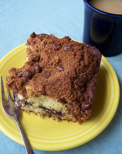 Banana Coffee Cake with Chocolate Chip Streusel
