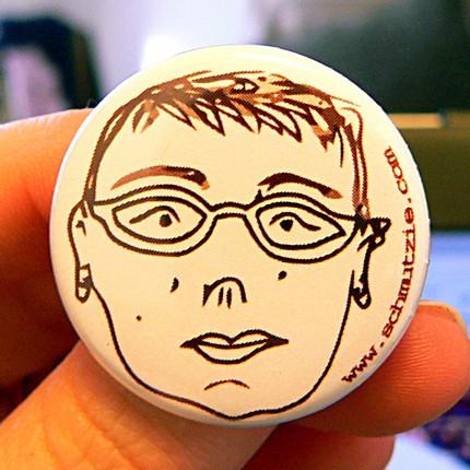 Schmutzie pumpkin pin portrait