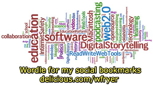Wordle for my social bookmarks