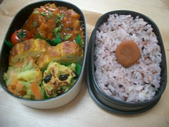 Tasty autumn bento (skamegu) Tags: rice bento japanesefood
