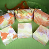 Marbled Gift Box (orange, Green, Purple)