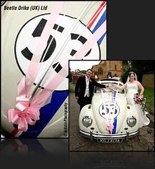 Herbie wedding car hire (mushpea73) Tags: uk gay wedding 2 bus love car vw bug volkswagen drive beetle limo civil type van camper partnership limousine hire midlands
