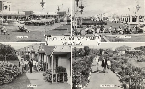 Butlins Skegness 1950s multiview postcard