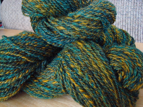 Blue and Orange wool, 2 ply