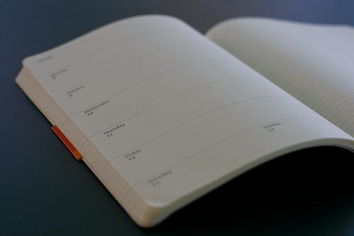 Moleskine weekly planner + notebook