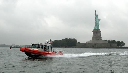 coastguard newyork boat security patrol homeland rhib uscg statueliberty newyorkharbor patrols coasties homelandsecuirty