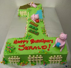 3 little pigs (Artisan Cakes by e.t.) Tags: cake pig farm et 3littlepigs buttercream artisancakes
