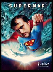 A NEW SUPERHERO (The PIX-JOCKEY (visual fantasist)) Tags: art photoshop painting arte joke fake humour superman vip photomontage fotomontaggio napoleone robertorizzato pixjockey