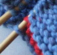 Knitted diplocaulus detail