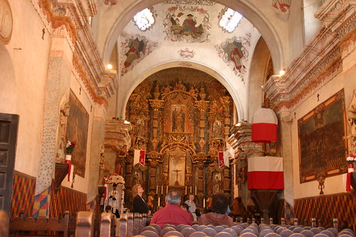 Inside of San Xavier Del Bac