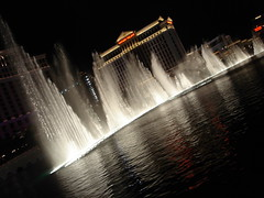The fountain at the Bellagio