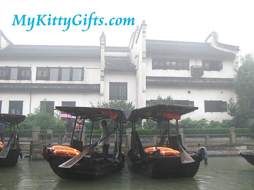 Hello Kitty taking Boat Trip in Wu Zhen