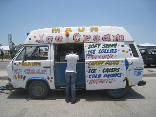 Ice cream truck in Maun.