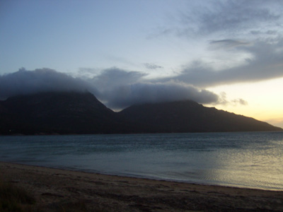 Coles Bay at twilight