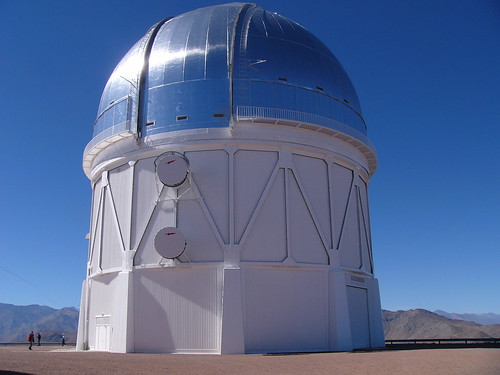 Near the 1.5 meter telescope is the 4 meter telescope, the observatory's largest.