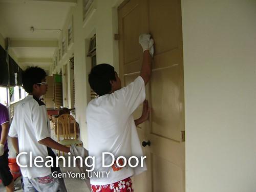 Cleaning Door