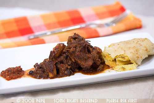 Hot Sauce, Caribbean Oxtail Stew, Dhal Puri Roti