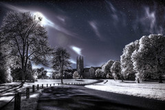 The Winter Solstice at Midnight in a Perfect World (darth_bayne) Tags: moon clouds photoshop stars shadows surreal wintersolstice midnight infrared moonlight dreamlike hdr sanctuary bigdipper perfectworld photomatix
