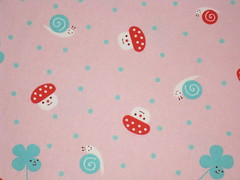 Clovers, Snails and Mushrooms (This and That From Japan) Tags: mushroom japan forsale sewing craft cotton etsy clover snails yardage decole artfire japanesefabric dawanda decolello thisandthatfromjapan