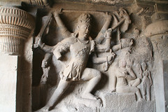 ヒンズー寺院の彫刻。たぶんシヴァ神
