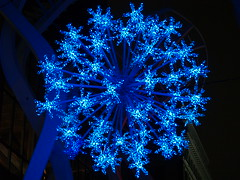 sparkle (ktelqueen) Tags: blue winter calgary lights downtown scout olympus sparkle explore sphere dec29 explored ktelqueen mariapowellphotography