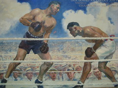 Jack Dempsey Fight Painting (mbell1975) Tags: portrait usa museum jack smithsonian us dc washington gallery museu musée musee m national dempsey museo 2008 muzeum nationalportraitgallery müze museumuseum