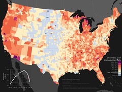 US unemployment rate, by county (Dec, 2008)