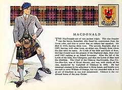 Clan MacDonald History, old print