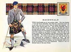 Clan MacDonald History, old print
