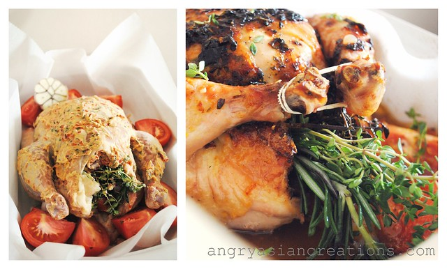 Roasted Chicken with Lemon-Thyme & Rosemary