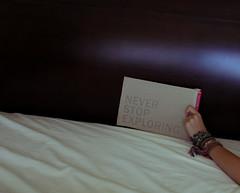 (bellejune) Tags: word bed sheets bracelet happyfathersday neverstopexploring bellejune