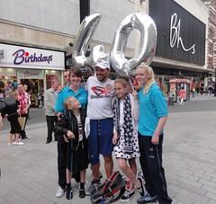 40 marathons in 40 days on his 40th Birthday (Tony Beyga) Tags: charity liverpool balloons marathon running birthdays bhs sparkys barclays zoesplace stephenhill scousemarathonman