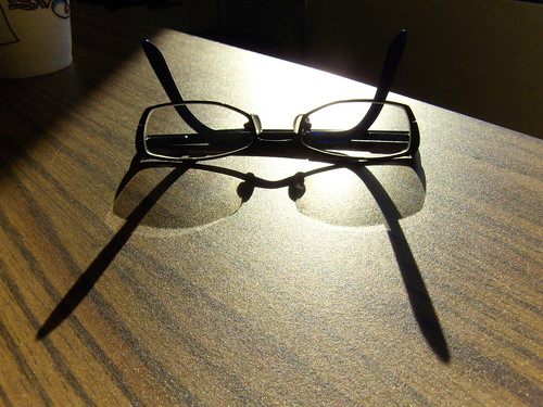 janice left her glasses on my desk