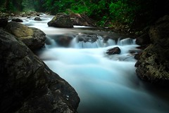 Hidden Treasure (glenOX [glen navarra]) Tags: longexposure travel vacation green nature water nikon rocks stream hiking philippines trail filipino d200 runningwater coldspring pinoy pilipinas aklan basang ibajay hiddentreasure philippinesvacation touristdestination westernvisayas glennavarra nikkor2470mmf28 4stopsndfilter nabasaklan huromhurom nearboracay