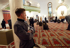 Army cadets in NJ Mosque. April 2008.
