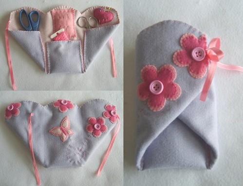 Estojo de costura! por Arte & Mimos.