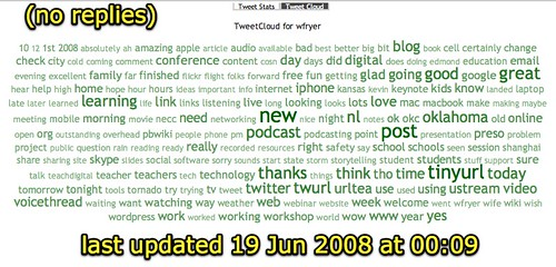 TweetCloud :: for wfryer (no replies)