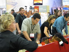 playing horses at the wells fargo booth 1