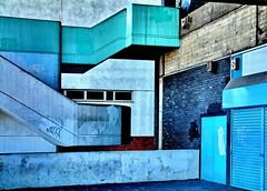 rivum n'blues (Harry Halibut) Tags: street blue windows green shopping concrete pond empty sheffield arcade images derelict deserted allrightsreserved anglesanglesangles sheffieldbuildings sheff080604106 imagesofsheffield andrewpettigrew sheffieldarchitecture
