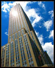 Empire State Building (lorainedicerbo) Tags: newyorkcity vacation newyork building clouds state wideangle empire empirestatebuilding tall bigapple loraine dicerbo lorainedicerbo