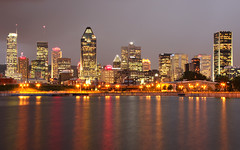 Montreal at night (Nino H) Tags: light canada storm reflection skyline architecture night clouds buildings montral quebec lumire montreal qubec nuages nuit reflets hdr orage travelerphotos photoquebec