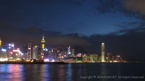 evening scene@Victoria Harbour