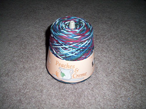 Peaches & Creme Worsted Cone Blue Swirls