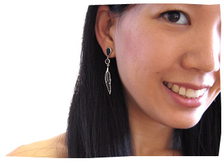 Karen wearing Malachi Alister Yiap Earrings