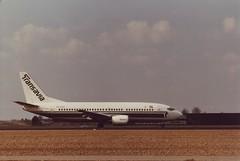 Boeing 737-3K2 (Den Batter) Tags: minoltax700 boeing spl schiphol transavia 737 eham 737300 01l19r phhvf