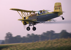 Crop Duster (jschladen) Tags: sky yellow plane airplane flying wings aviation farming spray crop ag duster round agriculture propeller schweizer prop biplane spraying radial cropduster agcat g164